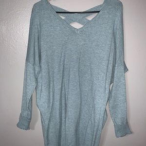 Long Baby Blue Sweater
